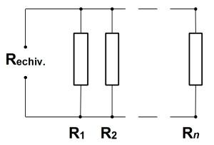 Figura 1. Legarea rezistentelor in paralel