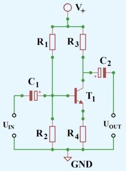 Figura-2.-Schema-amplificator-cu-un-tranzistor-bipolar-in-conexiune-emitor-comun-