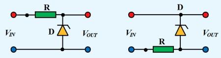 Figura 1. Stabilizator liniar paralel cu dioda zenner - Hobbytronica