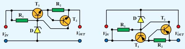Figura 7. Stabilizator liniar serie cu protectie la suprasarcina - Hobbytronica