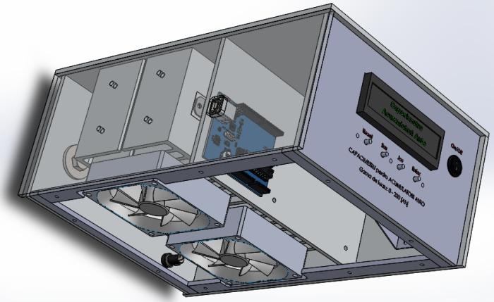 Carcasa capacimetru (vedere stanga jos) - Hobbytronica