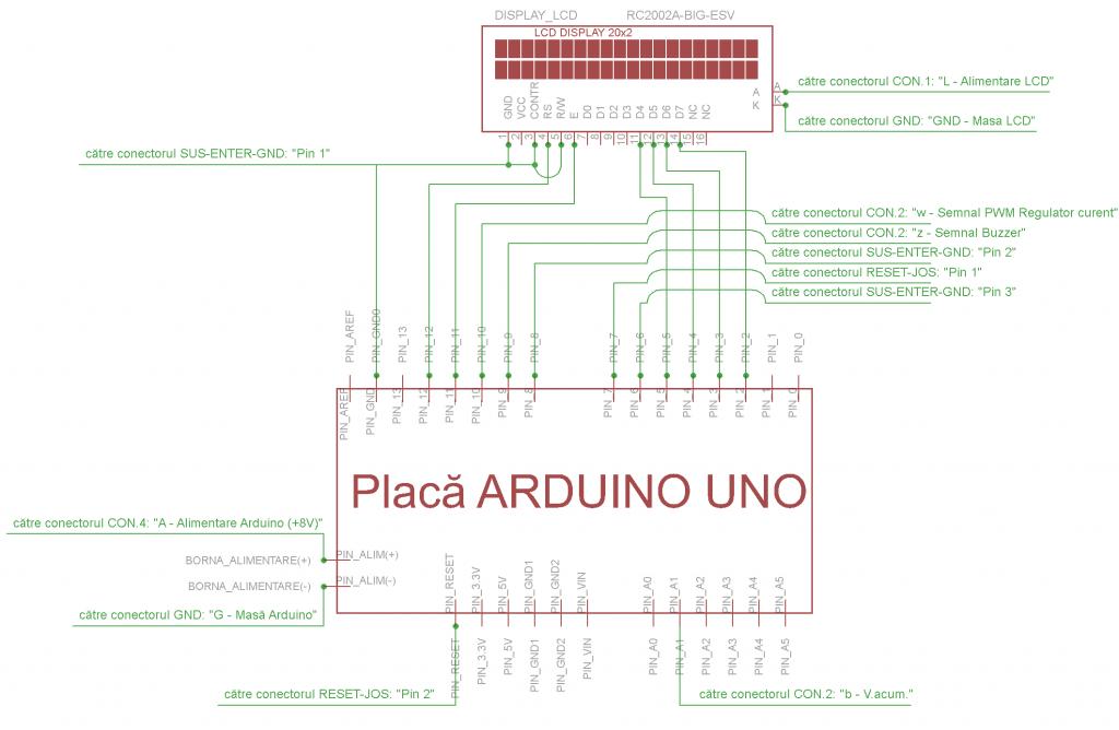 Schema interconectare placa ARDUINO Uno, LCD si Modul hardware - Hobbytronica