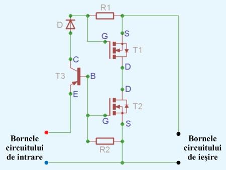 Schema releu static cu componente discrete - Hobbytronica